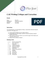 CAE Writing Feedback
