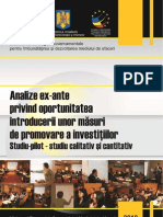 Studiul 7 Strategia Dma Analiza Ex Ante Investitii