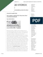 El Plagio Utópico (traducción parcial por Sísifo Pedroza)
