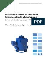 WEG Motores de Induccion Trifasicos de Alta y Baja Tension Rotor de Jaula Verticales 11362681 Manual Espanol