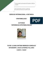 DIFERENCIAS EPISTEMOLÓGICAS