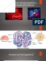 Formación de Hemoglobina y Funciones Eritrocitarias