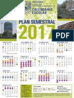 Calendario_Semestral_2017 UNAM