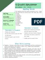 newsletter template september 19