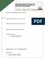 SIMULACRO 2016 - Trigonometria - 2 Do de Secundaria