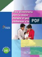 Guia Alimentaria Para La Mujer Durante El Periodo de Embarazo y Lactancia