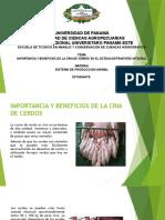 Importancia y Beneficios de La Cria de Cerdos en El Sistema Detraspatio Integral