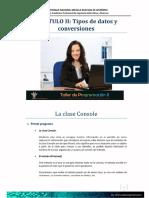 2.- Clase ReadLine WriteLine - Tipos de Datos y Conversiones