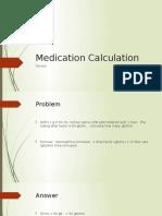 Medication Calculation