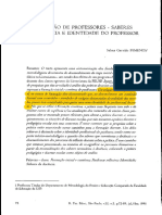 Formação de Professores - Saberes Da Docência e Identidade Do Professor - Pimenta 1996