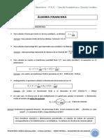 Algebra Financiera Para Alumnos - 2016
