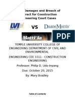 Delay Damages and Breach of Contract for Construction Engineering Court Cases
