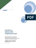 Cambios y Desarrollo Organizacional