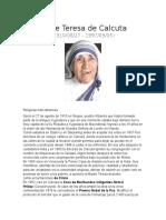 Biografia Madre Teresa