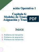 Modelos de Transporte, Asignacion y Transbordo