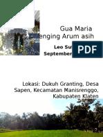 Gua Maria Golenging Arum Asih