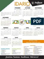 Calendario-universitario ANAHUAC 2016 2017