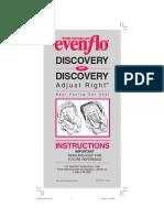 Instrucciones Evenflo Discovery (Silla de Bebe Para Auto) Resumido