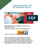 Sri Lanka's Bloodless Revolution on 8 January Malith Jayathilake Has Now Spoken Out