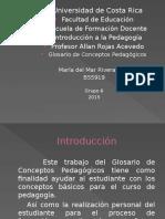 Glosario de Conceptos Pedagógicos