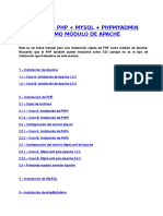 Modulo Apache PHP MySQL PHPMyAdmin