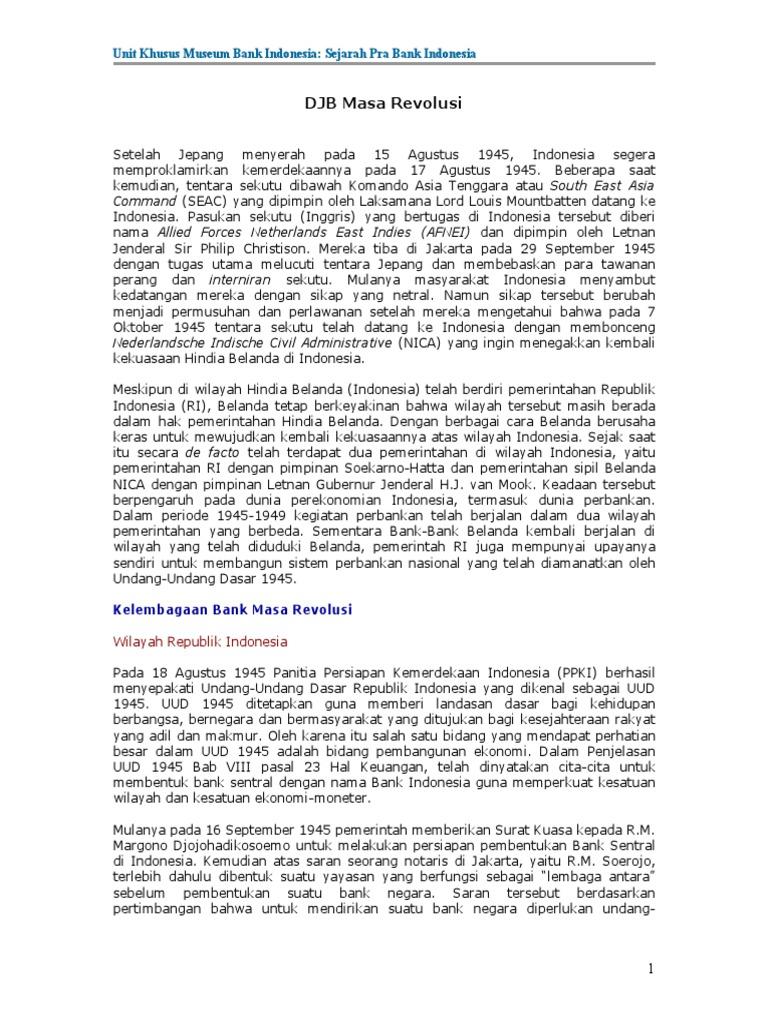 De Javasche Bank Masa Revolusi 25 Rupiah 1943 Nica Ekonomis