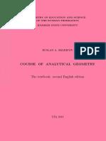 Analytical Geometry Sharipov