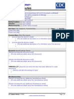 CDC UP Meeting Minutes Template