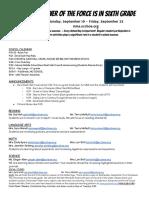Agenda 6 Sept 19-23