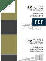Esta Di Stica Electoral 2013 Ok