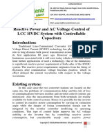 Reactive Power and AC Voltage Control of LCC HVDC System With Controllable Capacitors