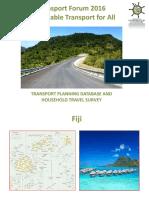Subplenary D2_Faranisese Kinivuwai_Transport Planning Household Survey