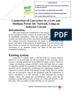 Connection of Converters to a Low and Medium Power DC Network Using an Inductor Circut
