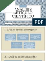Análisis artículo científico