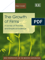 The Growth of Firms by Alex Coad