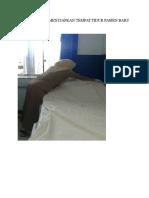 Dokumentasi Menyiapkan Tempat Tidur Pasien Baru