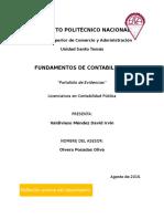 Portafolio de Evidencias, Fundamentos de Contabilidad- Valdivieso Mendez