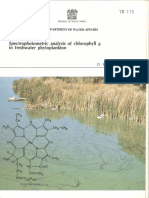 TR115 Sartory Spectrophotometric Analysis of Chlorophyll a in Freshwater Plankton