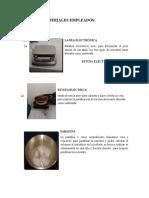 Equipos y Materiales Empleados