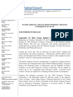 Press Release - Pacific Judicial Council Hosts Domestic Violence Conference on Guam