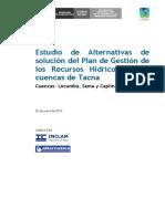 Estudio de Alternativas de Solucion Tacna