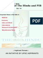 Crux of the Hindu and Pib Vol 14