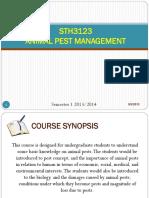 1 L1 Introduction STH3123 Animal Pest Management 9Sept2013