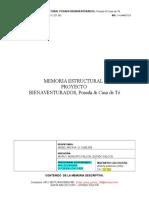 Memoria Estructural - Proyecto Bienaventurados (Revisada 09112015)