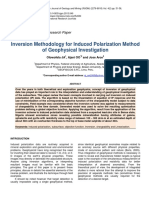 Inversion Methodology for Induced Polarization Method of Geophysical Investigation