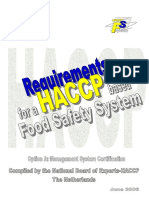 Requirements for an HACCP