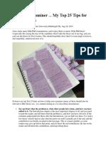 PhD Tips by a PhD Examiner