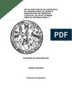 (Unión Europea) Sistemas de Integración