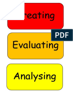Bloom's Taxonomy Wall Display Cards Red