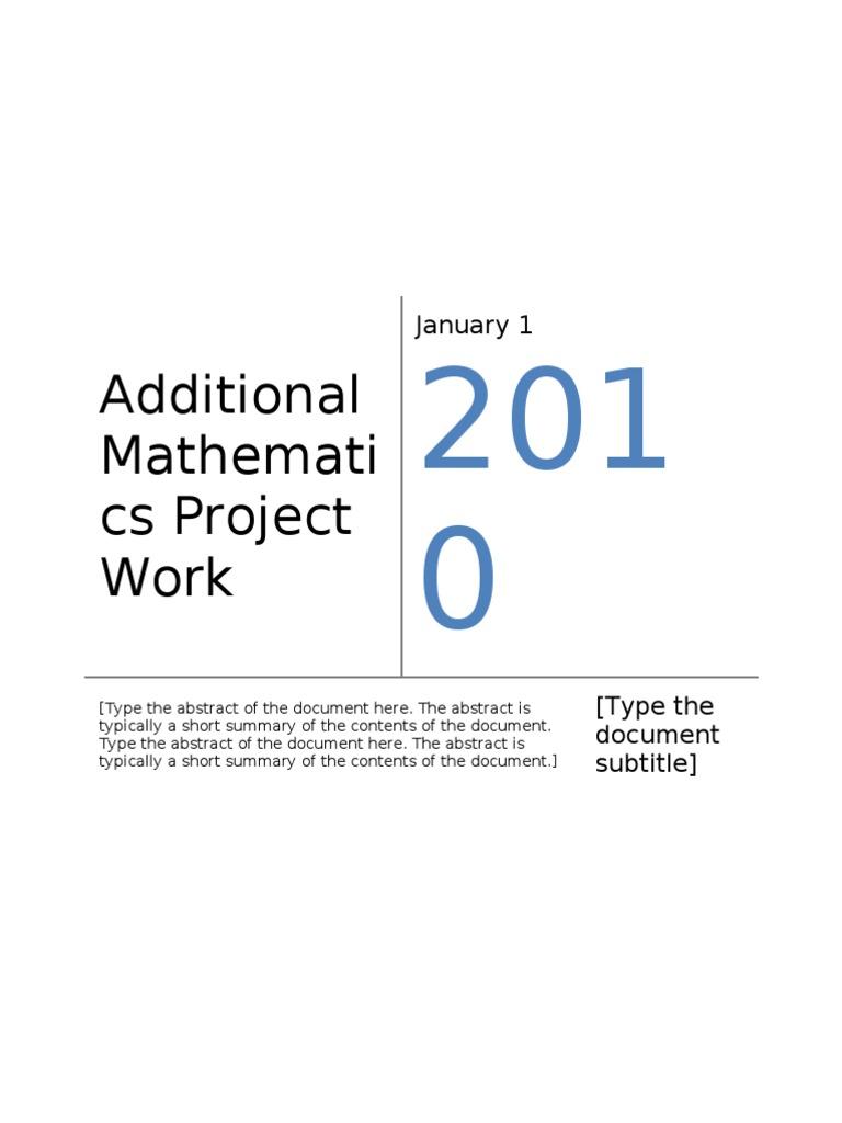 add math project statistic 2012